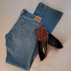 Levi's super low bootcut 518 jeans light wash